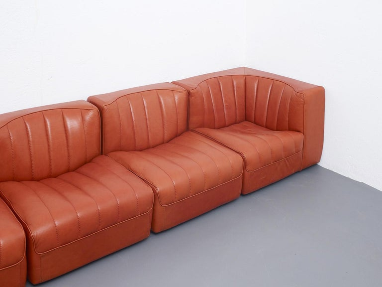 Novemila Leather Sofa by Tito Agnoli, Arflex, Italy, 1969 For Sale 2