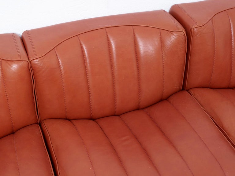 Novemila Leather Sofa by Tito Agnoli, Arflex, Italy, 1969 For Sale 3