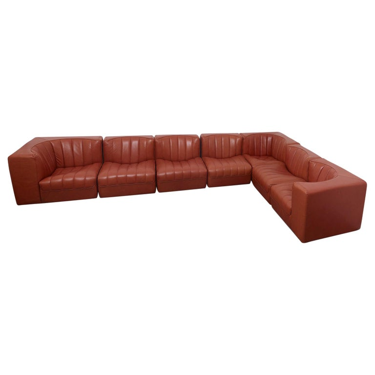 Novemila Leather Sofa by Tito Agnoli, Arflex, Italy, 1969 For Sale