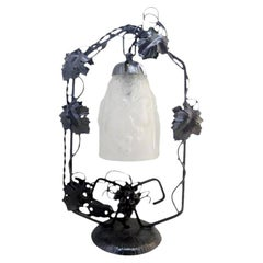 Noverdy French Art Deco Vine Table Lamp, 1930
