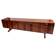 Novo Rumo 1960s Brazilian Jacaranda Wood Sideboard