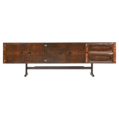 Novo Rumo Modern Brazilian Sideboard Made of Rosewood