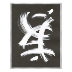 Now And Zen 2 Abstract Wall Print in White and Dark Gray by CuratedKravet