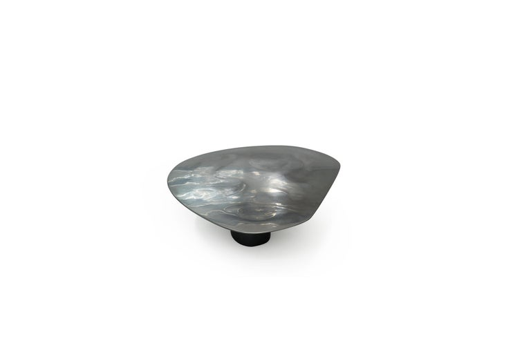 Modern NR 2 Liquid Metal Low Cocktail Table For Sale