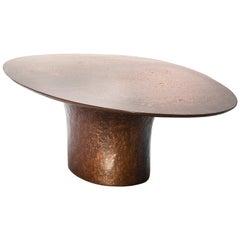 NR Copper V1 -21st Century Contemporary Liquid Copper Oval Coffee Table