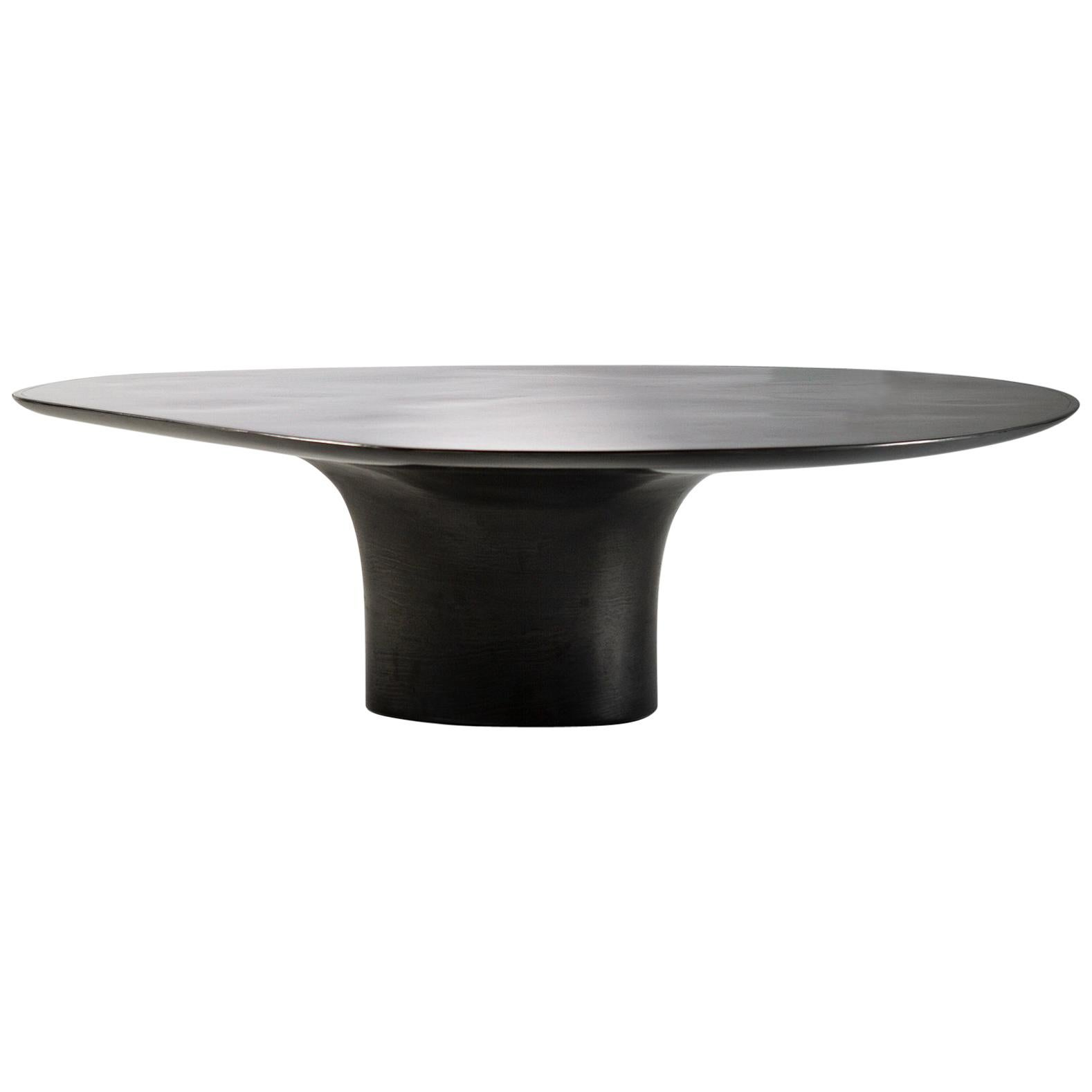 NR Hand Sculpted Liquid Metal Low Cocktail Table