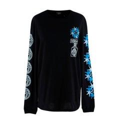 Versace Versacepolis Graphic Black Long Sleeve Tee - US 2