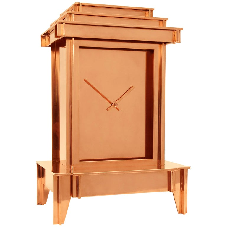 NSNG One More Time Clock Copper-Plated For Sale