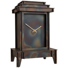 NSNG One More Time Clock heated corten