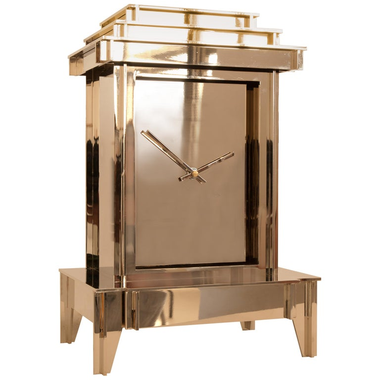 NSNG One More Time Clock Nickel-Plated For Sale