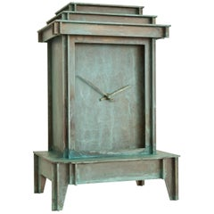 NSNG One More Time Clock Patinated Brass