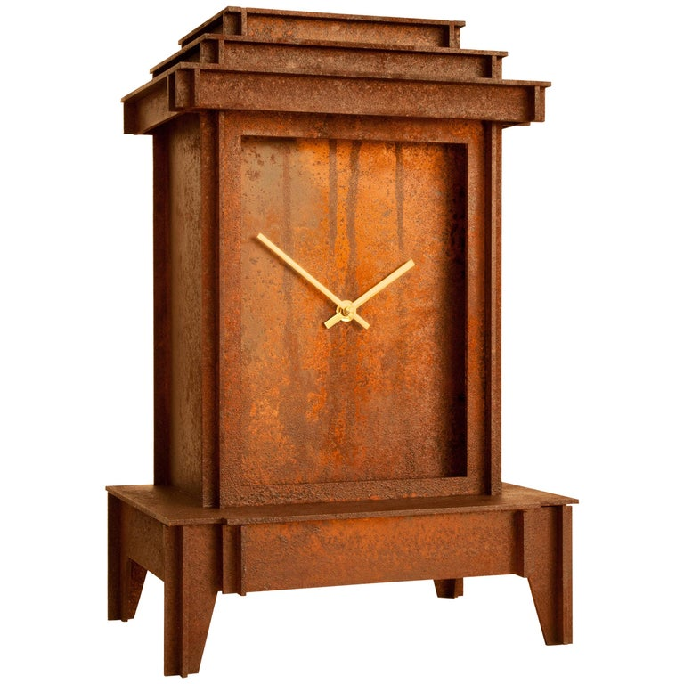 NSNG One More Time Clock Rusted Corten For Sale