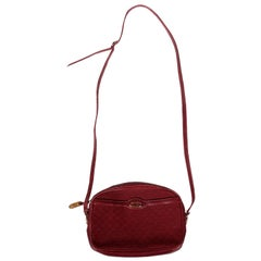 Vintage Gucci Burgundy Purse, 1980s