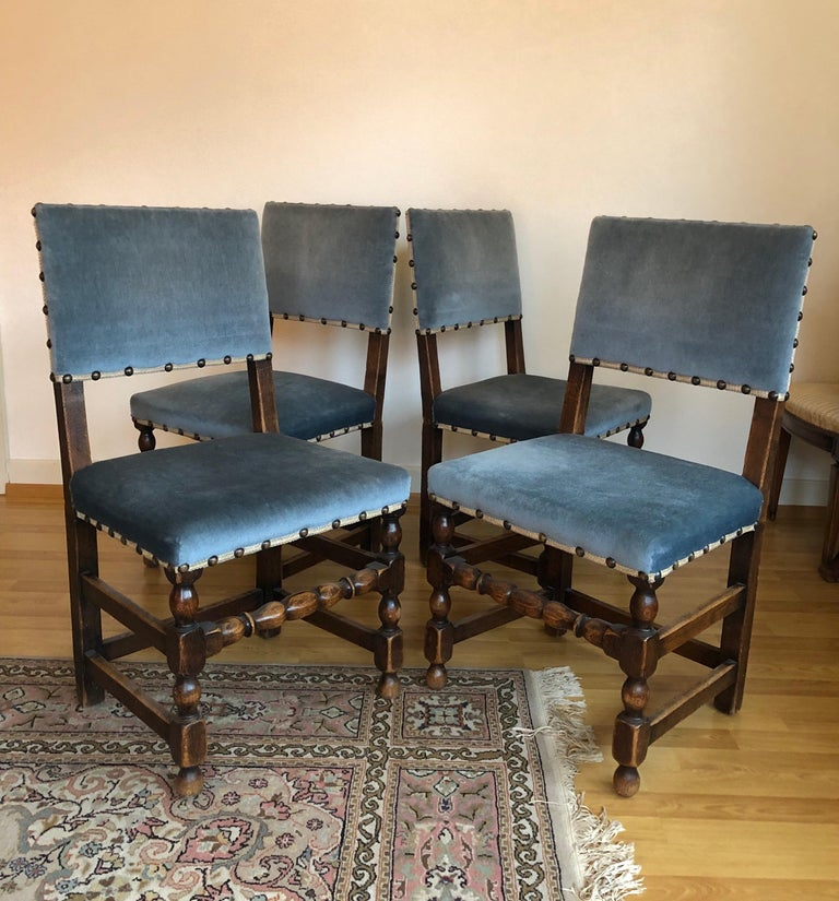 Set Of 4 Country Cream Dining Chairs: SALE Antique Set Of 4 French Country Provincial Rustic