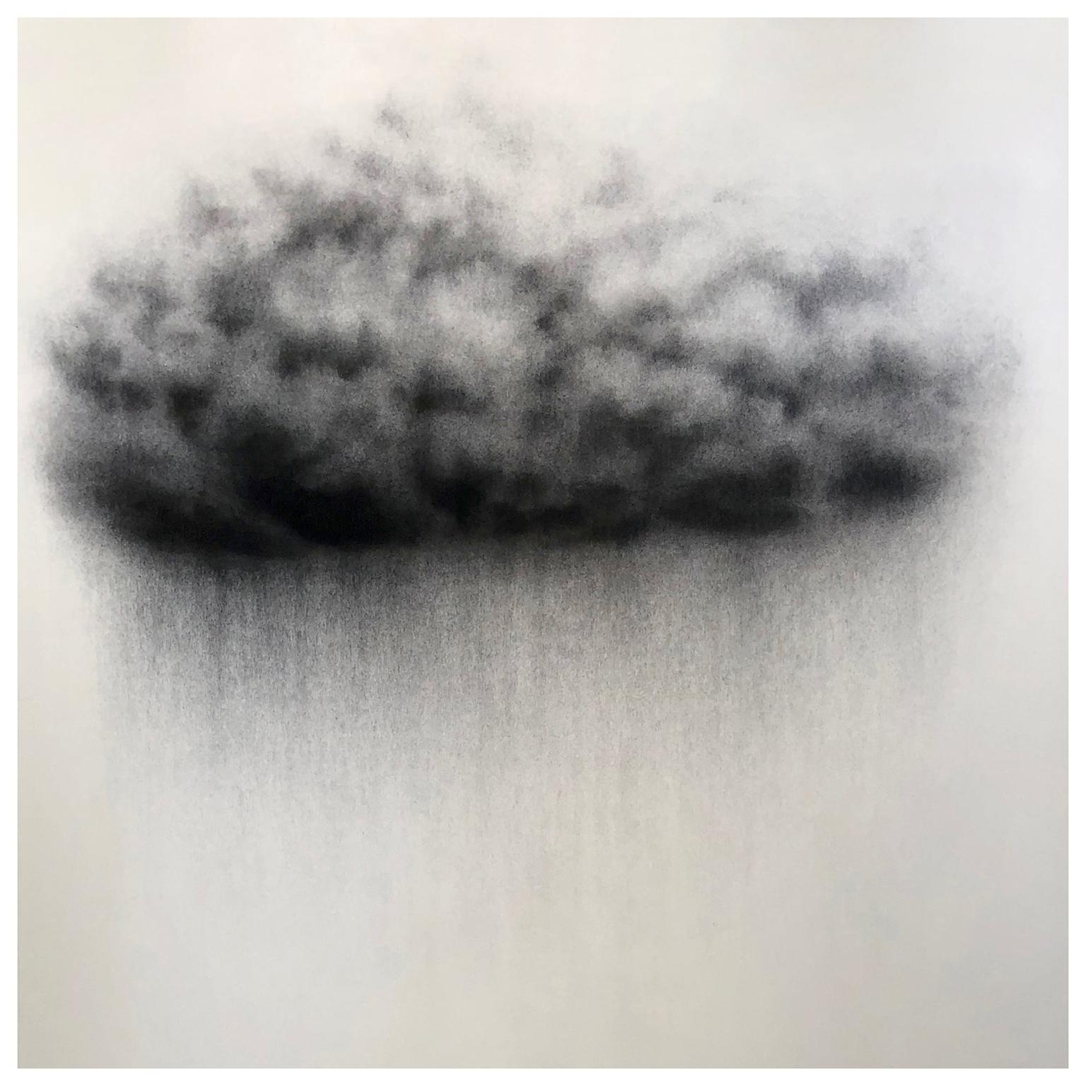 Nuage, Cloud, Charcoal on Paper, Contemporary Drawing, Clio Szeto