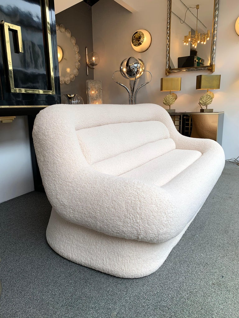 Fabric Nuava Sofa by Emilio Guarnacci for 1P, Italy, 1970s For Sale