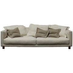 Nube Italia Book Nest Sofa in Light Cream Fabric by Carlo Colombo