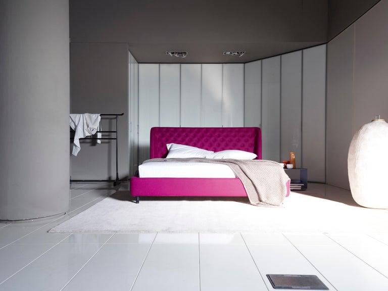 Modern Nube Italia Chloe Bed in Fuscia by Marco Corti For Sale