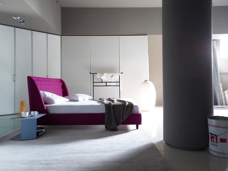Italian Nube Italia Chloe Bed in Fuscia by Marco Corti For Sale