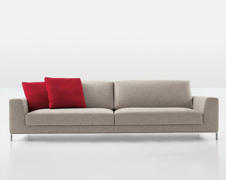 Modern Nube Italia Eddy Sofa in Dark Gray Fabric by Kemistry of Style For Sale