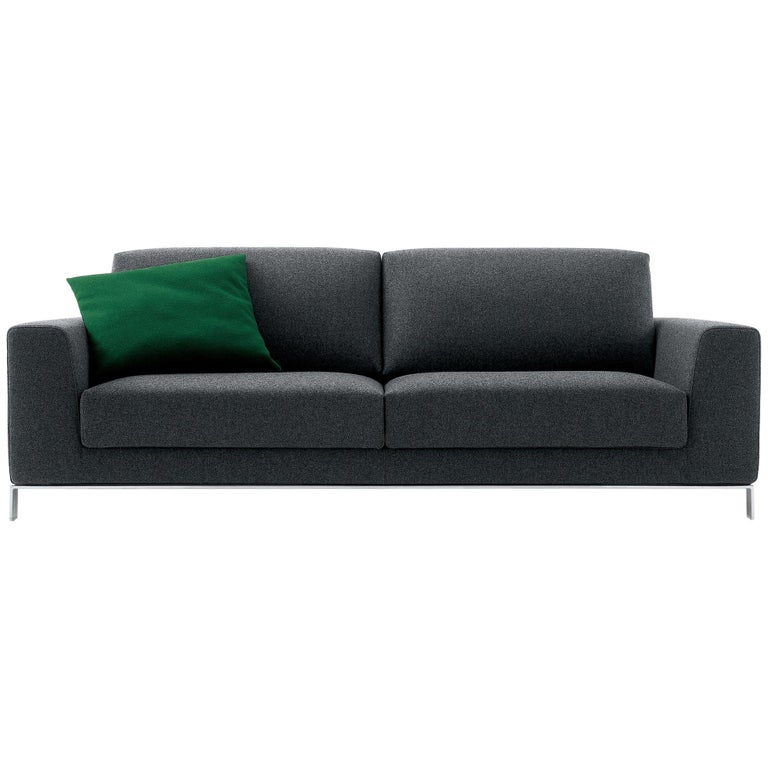 Nube Italia Eddy Sofa in Dark Gray Fabric by Kemistry of Style For Sale