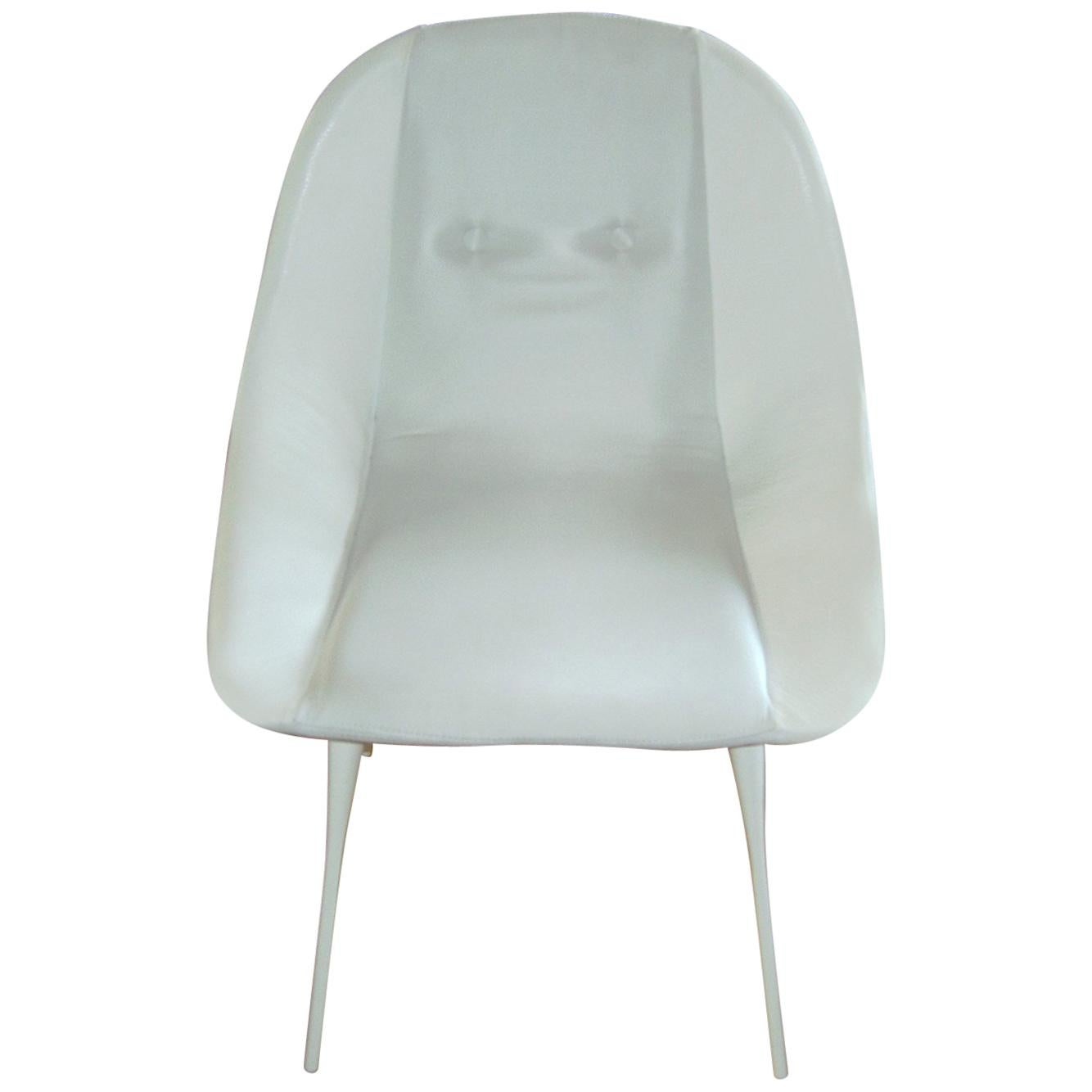 Nube Italia Fency Dinig Chair in White by Marco Corti