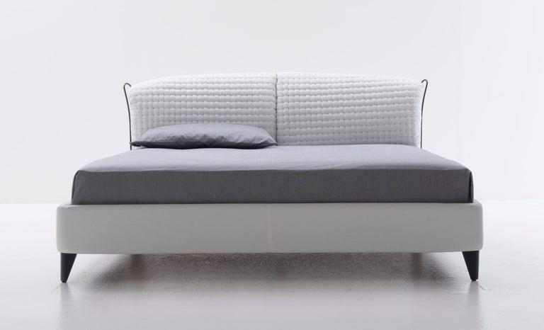 Italian Nube Italia Flatter Sofa in Gray Fabric by Antonio Nicoli For Sale