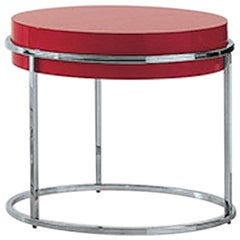 Nube Italia Link A Side Table with Red Lacquer Finish by Ricardo Bello Dias