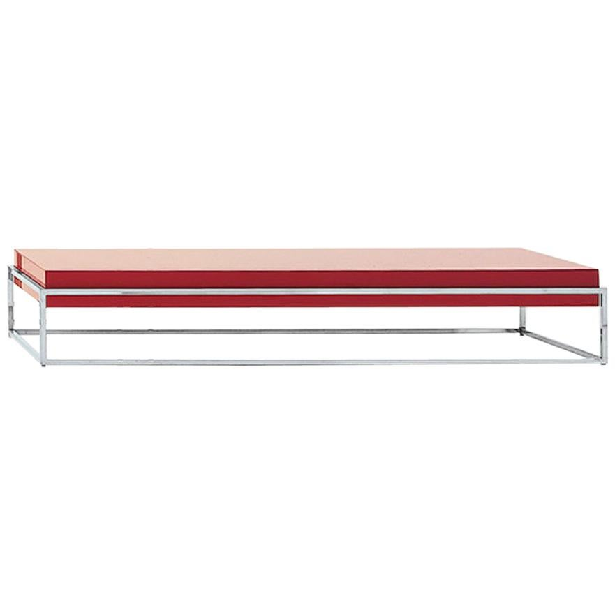 Nube Italia Link B Coffee Table with Red Lacquer Finish by Ricardo Bello Dias