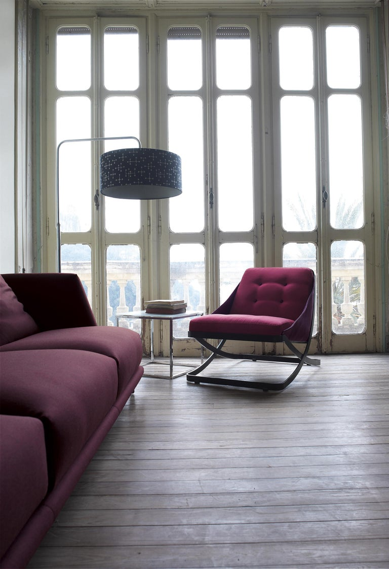 Nube Italia Rest Armchair in Red or Dark Brown Velvet by Carlo Colombo In New Condition For Sale In New York, NY
