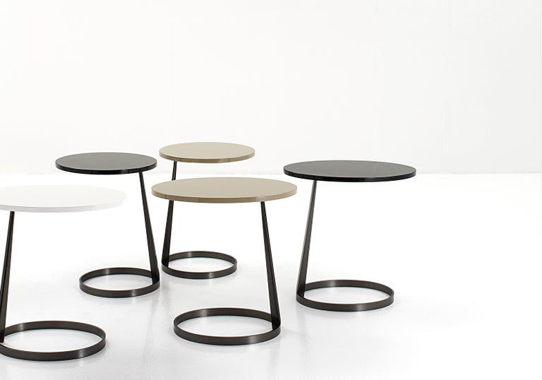 Modern Nube Italia Rise Table in Black Lacquered Wood by Marco Corti For Sale