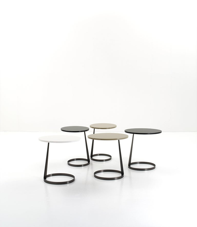 Italian Nube Italia Rise Table in Black Lacquered Wood by Marco Corti For Sale