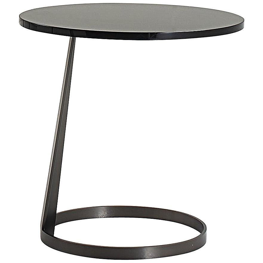 Nube Italia Rise Table in Black Lacquered Wood by Marco Corti