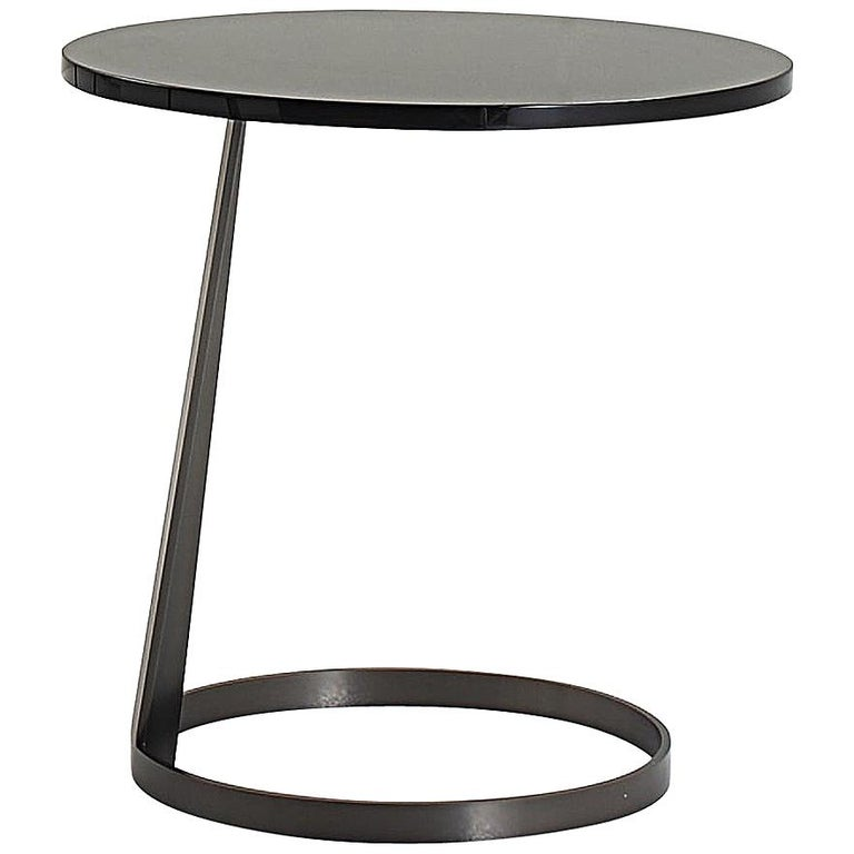Nube Italia Rise Table in Black Lacquered Wood by Marco Corti For Sale