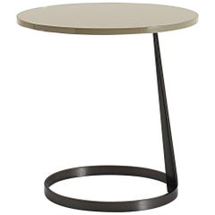 Nube Italia Rise Table in Tan Lacquered Wood by Marco Corti
