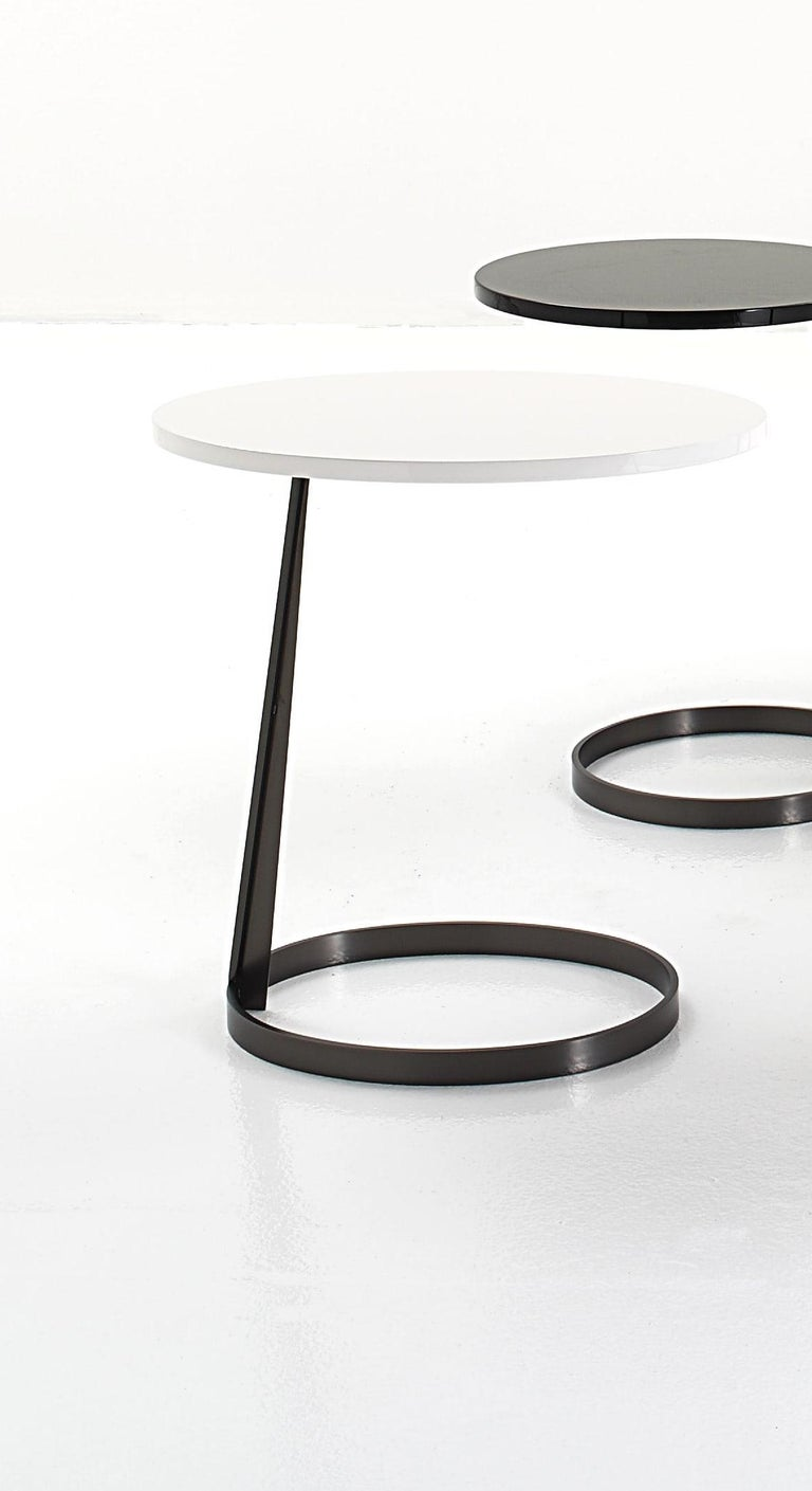 Modern Nube Italia Rise Table in White Lacquered Wood by Marco Corti For Sale