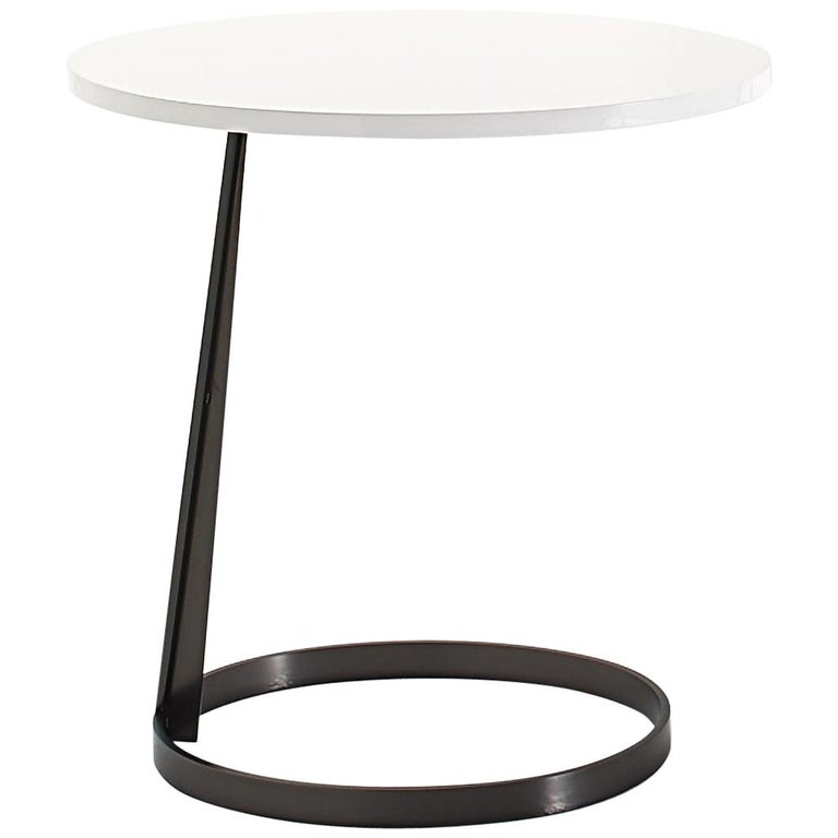 Nube Italia Rise Table in White Lacquered Wood by Marco Corti For Sale