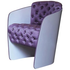 Nube Italia Sir Armchair in Lavender with White Back by Carlo Colombo