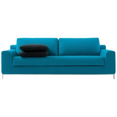 Nube Italia Sleep Sofa in Blue Fabric by Kemistry of Style