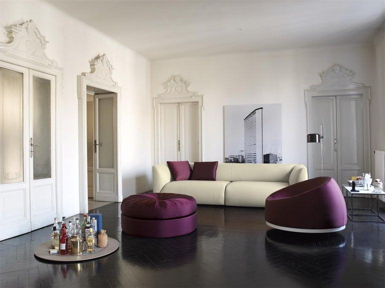 Italian Nube Italia Sophie Sofa in Charcoal Grey Upholstery by Mario Ferrarini For Sale
