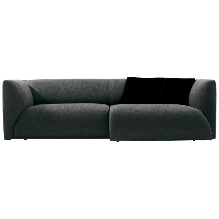 Nube Italia Sophie Sofa in Charcoal Grey Upholstery by Mario Ferrarini For Sale