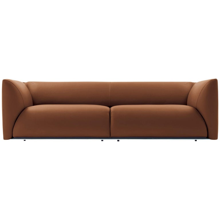 Sophie Sofa In Mid Brown Leather