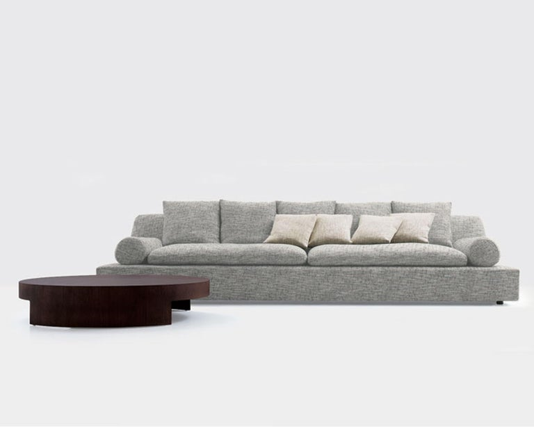 Modern Nube Italia Tender Sofa in Orange Upholstery by Carlo Colombo For Sale