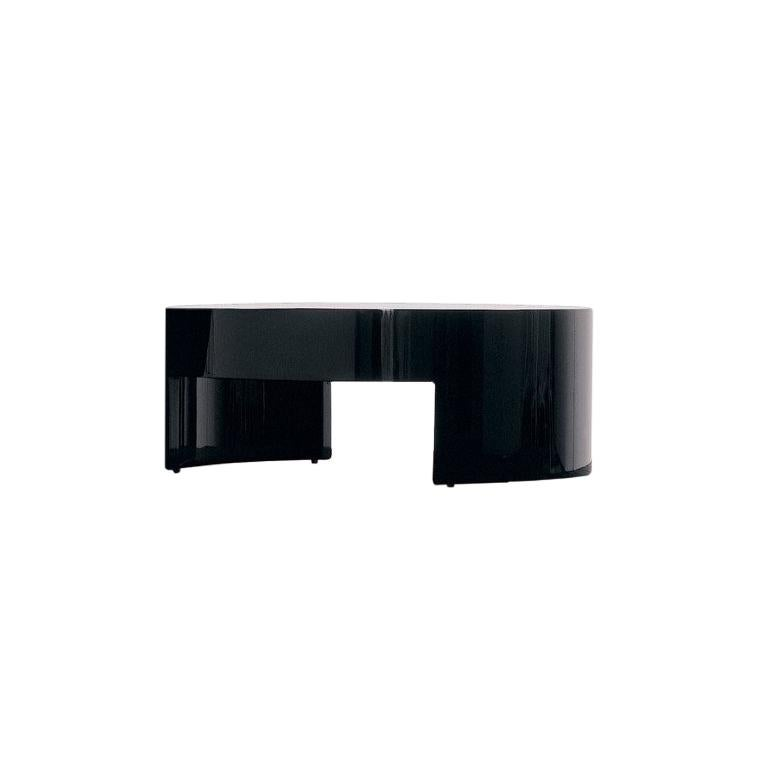 Nube Italia Turn Side Table in Black Lacquered Wood by Carlo Colombo