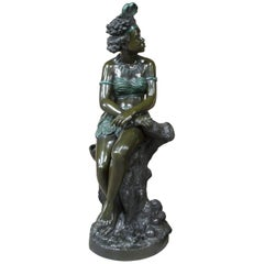 """Nubian Woman,"" Bronze after Eugène Piat, 20th Century"
