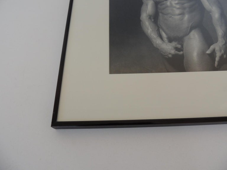 Modern Nude Black and White Abstract Photograph of Male For Sale