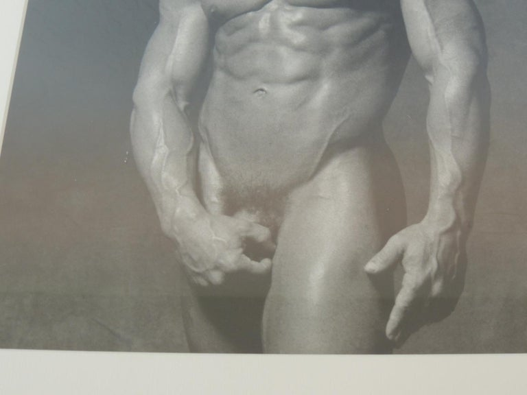 American Nude Black and White Abstract Photograph of Male For Sale