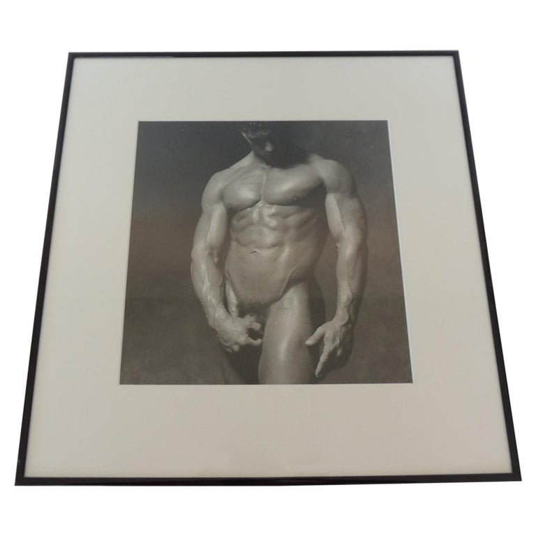 Nude Black and White Abstract Photograph of Male For Sale
