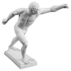 Nude Classical Greek Runner Sculpture