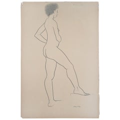 Nude Ink Drawing #1  by Jerry O'Day Alias Geraldine Heib